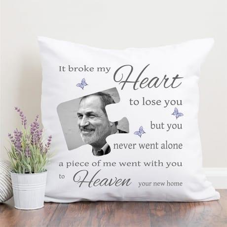 Personalised cushion - Broke my heart