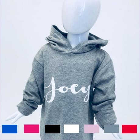 Personalised decorative font hoodie