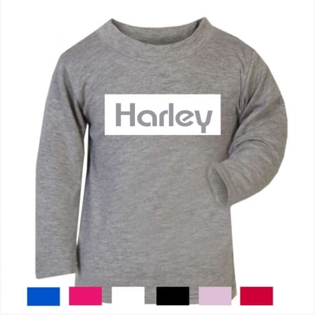 Personalised kid's name  long sleeved T-shirt