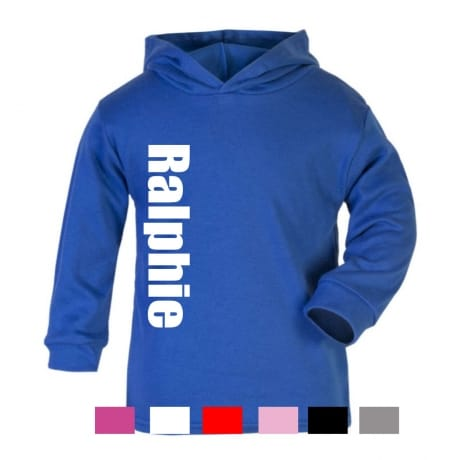 Personalised large name hooded T-shirt