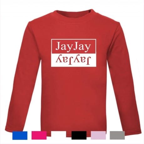 Personalised double name longed sleeved T-shirt