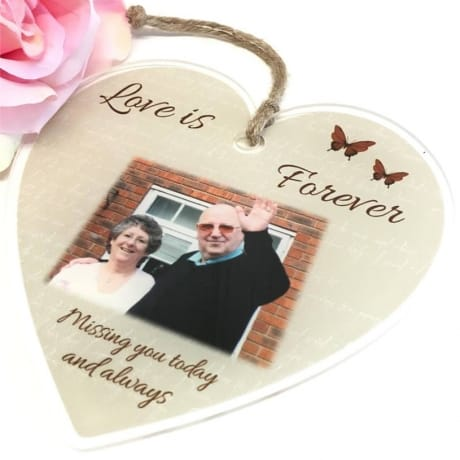 Personalised Acrylic Heart - Love is forever