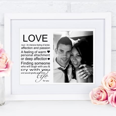 Love noun : Frame, Block, Plaque