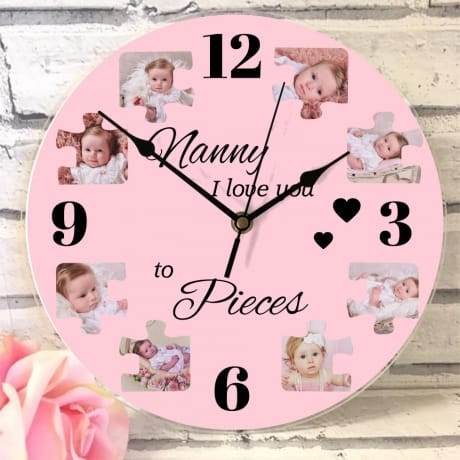 Personalised clock - Love you to pieces