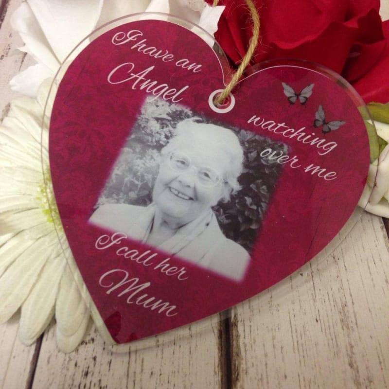 Personalised Acrylic Heart - Angel watching over me