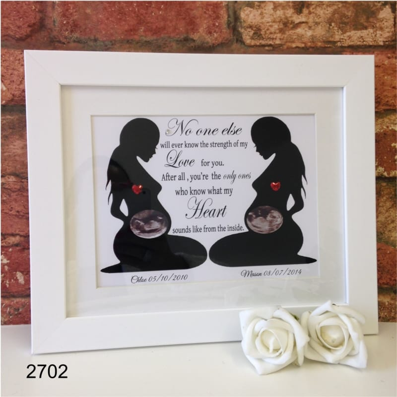 Personalised baby scans keepsake