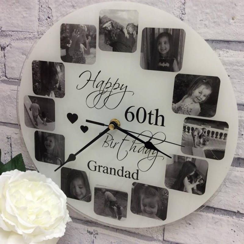 Personalised clock - Happy Birthday