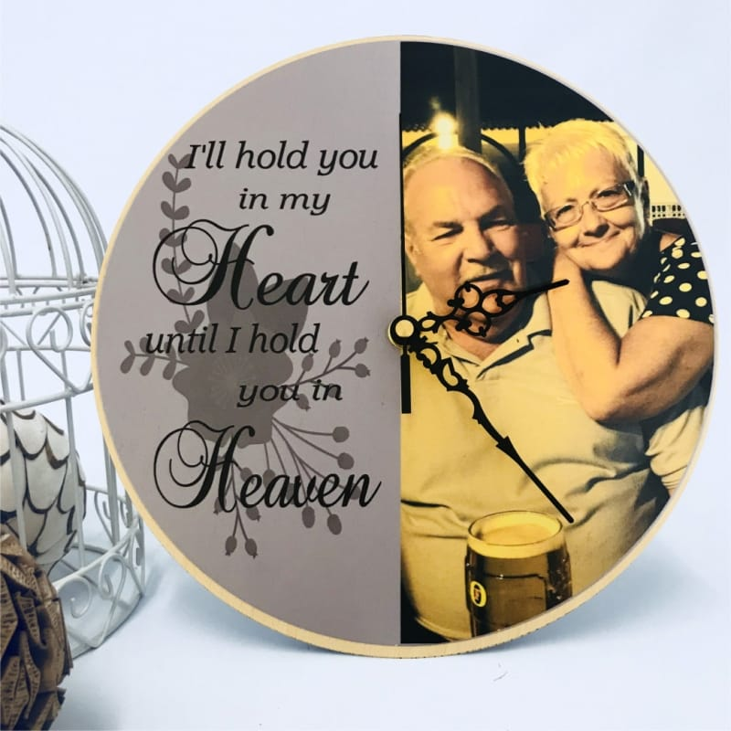 Deluxe chunky wood remembrance clock