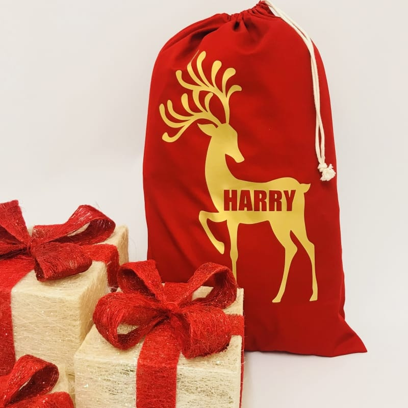 Personalised Santa Sack - Raindeer