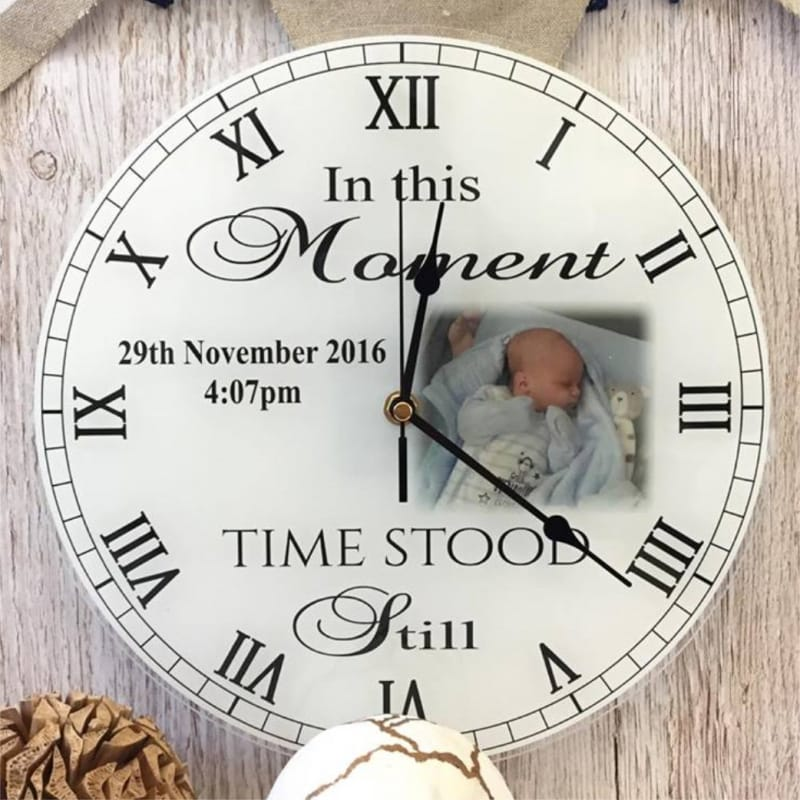 Personalised clock - Moments in time 1 photo