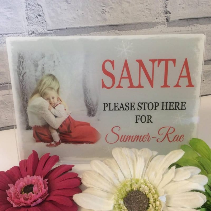 Santa please stop here for...Personalised Christmas Cushion