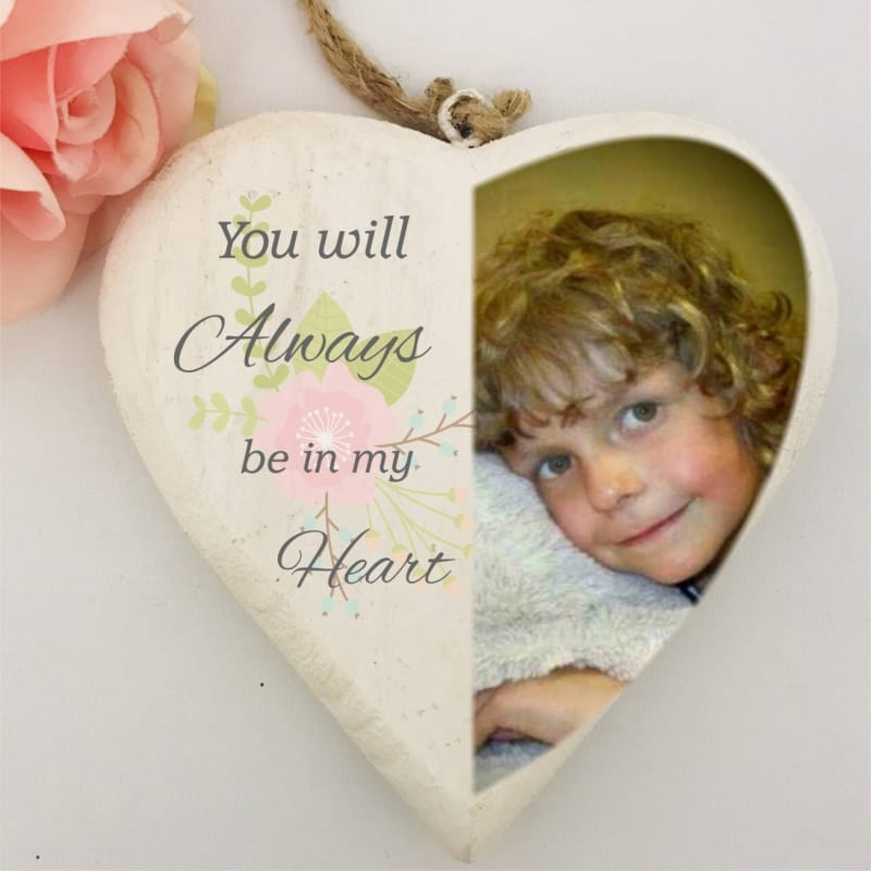 Personalised Remembrance Wooden Heart