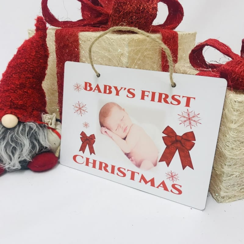 Christmas Sign - Baby's 1st Christmas