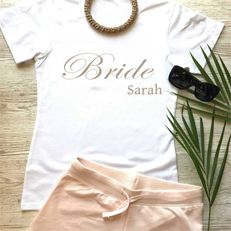 Wedding party personalised stylish lounge wear for the Bride