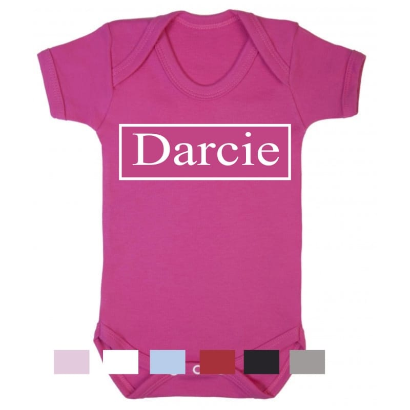 Personalised name bodysuit