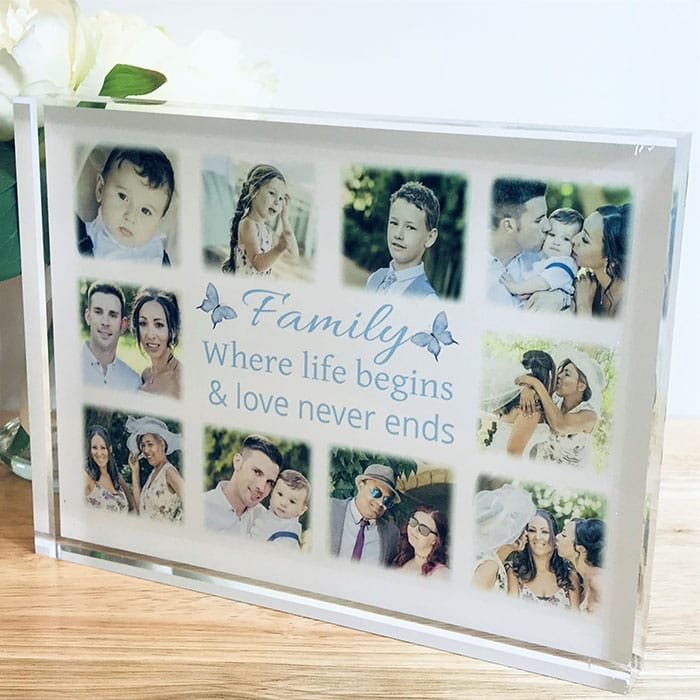 Personalised photo collage Block
