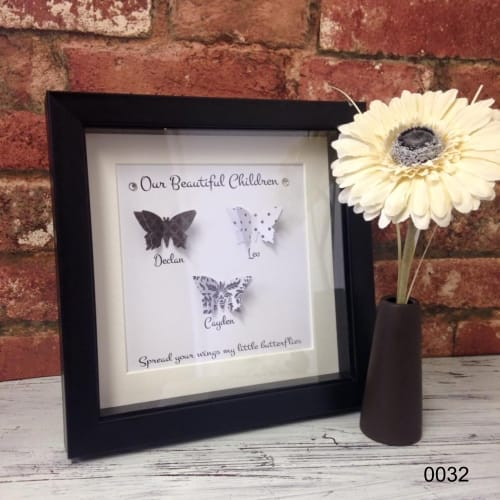 Handcrafted : 0032-MY/OUR CHILDREN butterfly