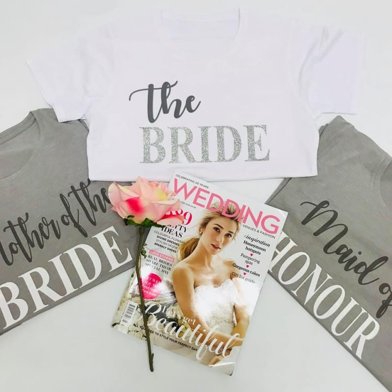 Glitter text wedding lounge wear - Bride