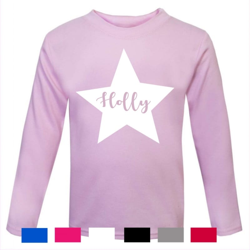 Personalised Star name long sleeved T.Shirt