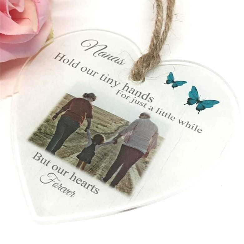 Personalised Acrylic Heart - hold our tiny hands