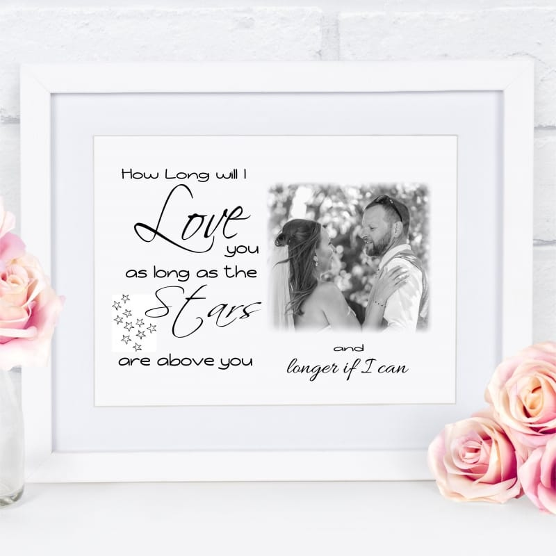 Personalised Photo Gift - How long will I Love You