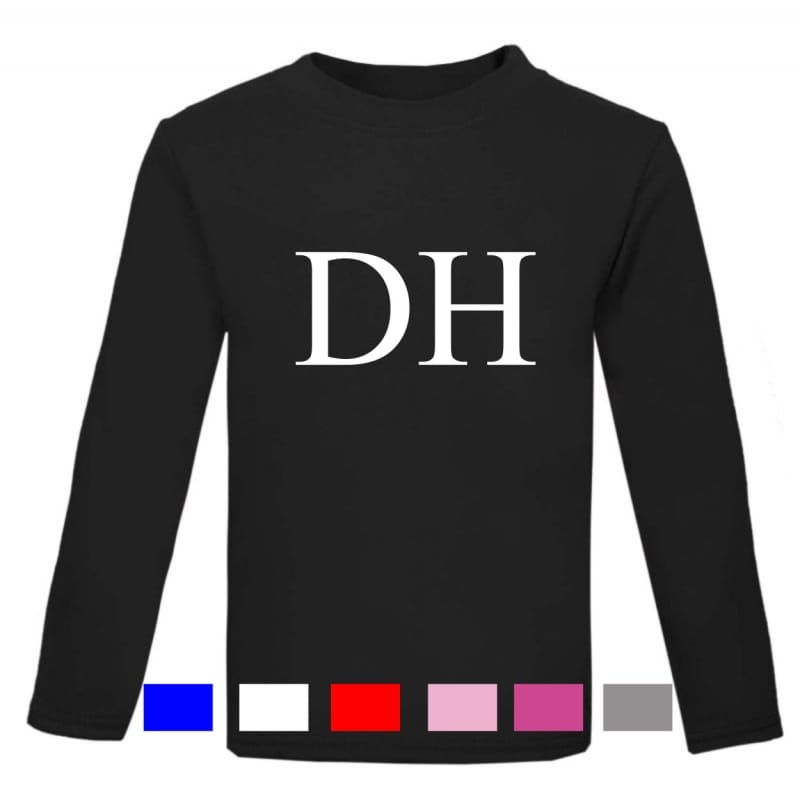 "Personalised ""large initials""  long sleeved T-shirt"