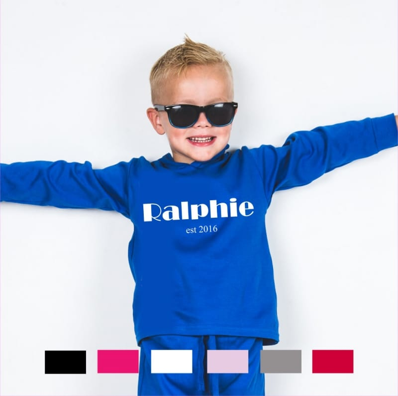 Personalised name and date long sleeved T-shirt