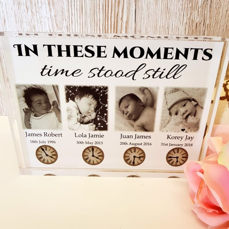 Moments in time 4 photos : Frame Block or Plaque