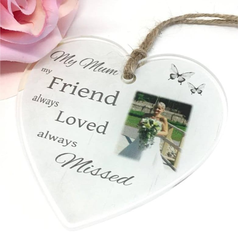 Personalised Acrylic Heart - Always loved always missed