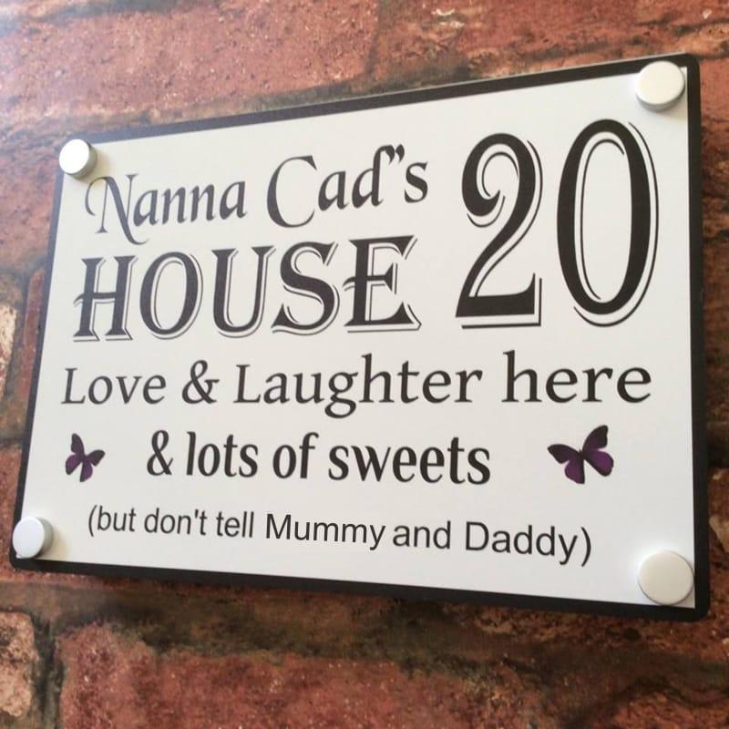 Door sign 4 : Grandparents