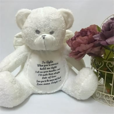Personalised Angel Teddy - When you're worried hold me tight