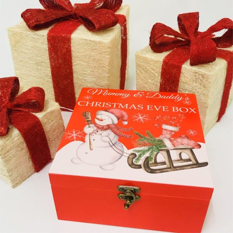 Snowman Personalised Christmas eve box