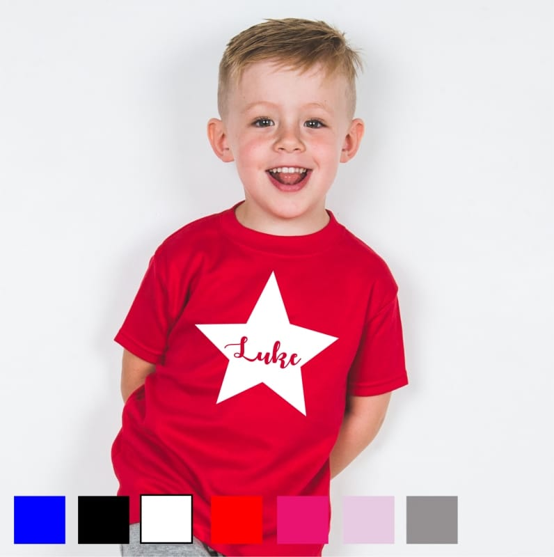 Personalised star name t-shirt
