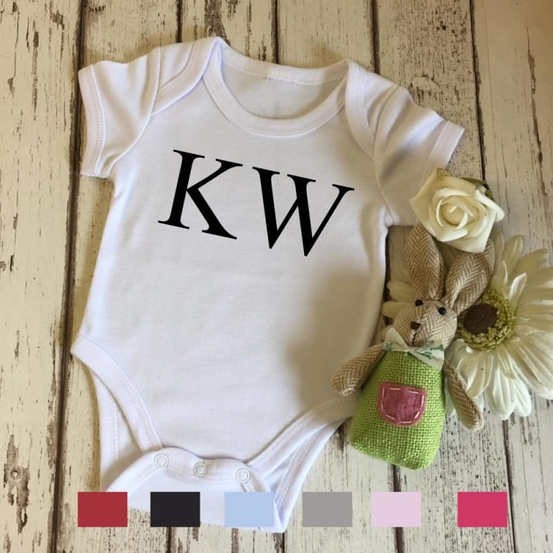 "Personalised ""large initials"" bodysuit"