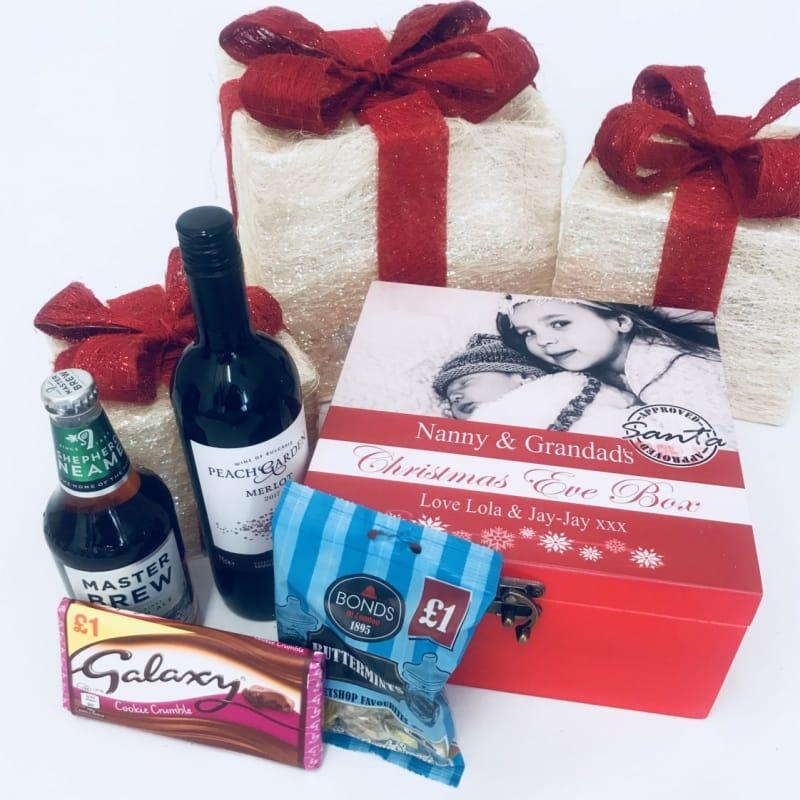 Personalised photo Christmas eve box