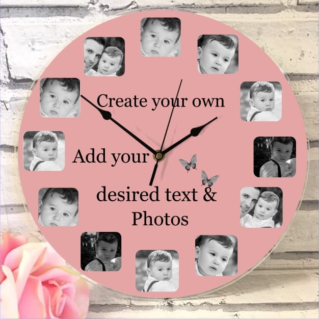 Create Your Own 12 Photo Clock