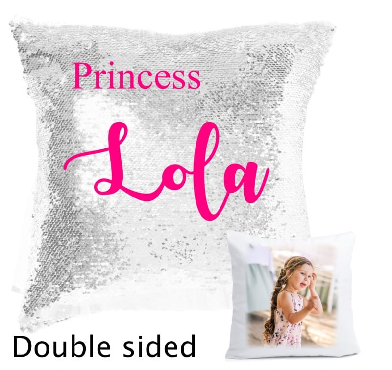 Sequin reveal cushion - Princess
