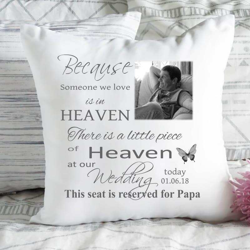 Personalised cushion - Wedding remembrance