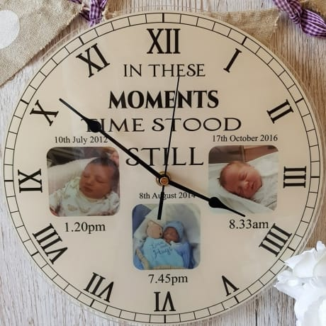 Personalised clock - Moments in time x3 photo