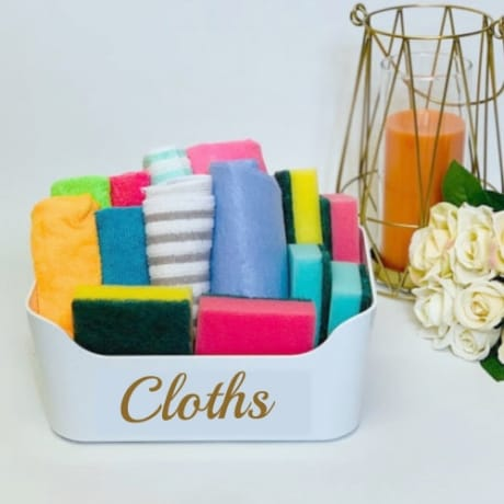 Mrs Hinch inspired cloth basket