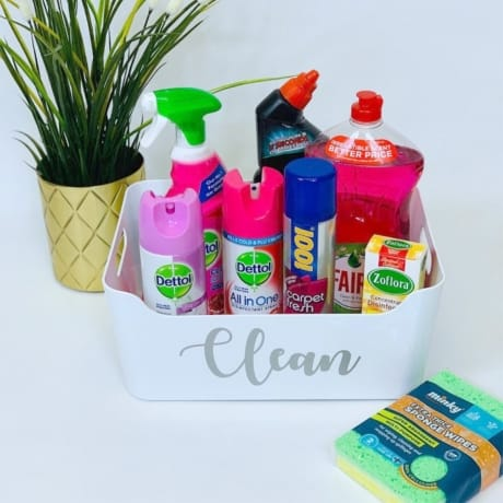 Mrs Hinch inspired cleaning basket