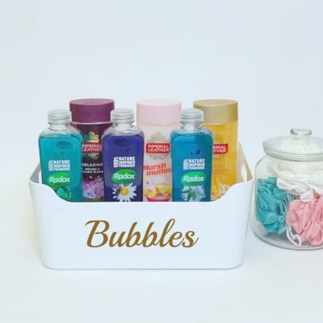 Mrs Hinch inspired bubbles basket