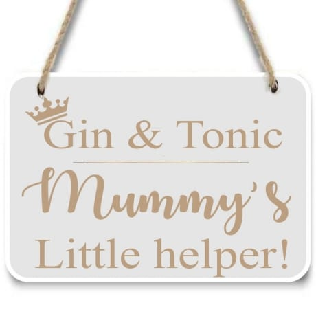 Mummy's little helper sign