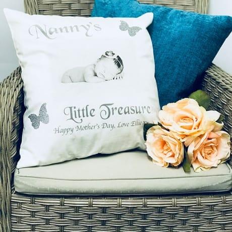 Glitter cushion - little treasure