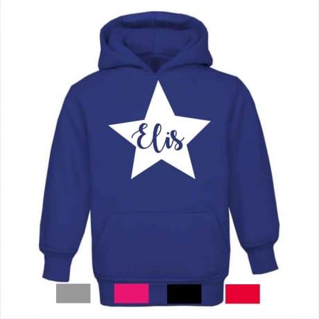 Personalised star name hoodie