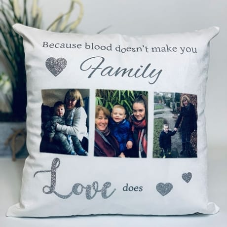 Personalised Cushion- Love Makes You Family