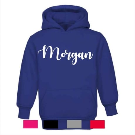 Personalised embroidery name hoodie