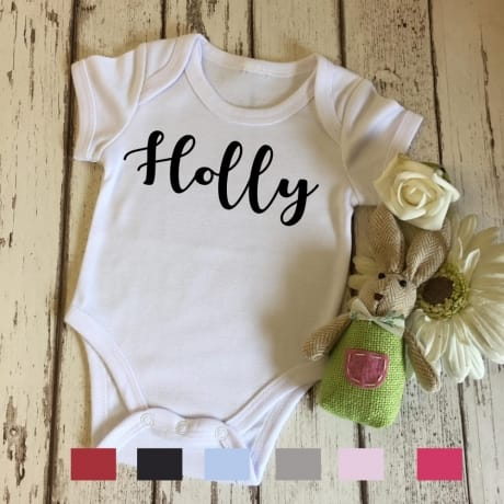 Personalised embroidery name bodysuit