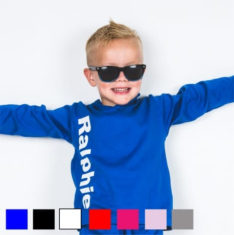 Personalised large name long sleeved T-shirt