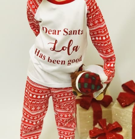 Personalised I've been good Christmas Pyjamas